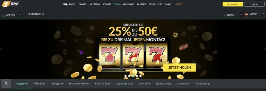 1Bet Casino Promotionen und Turniere