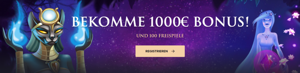 1000€ + 100 Freispiele bei Casinorex absahnen!