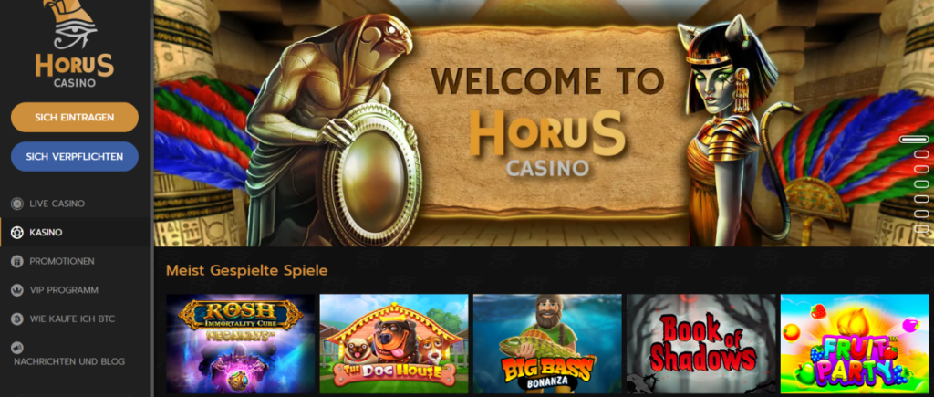 Horus Casino - Lobby