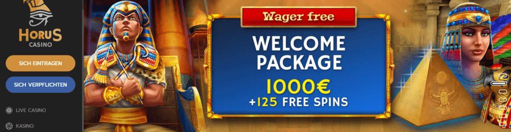 Horus Casino - Willkommensangebot