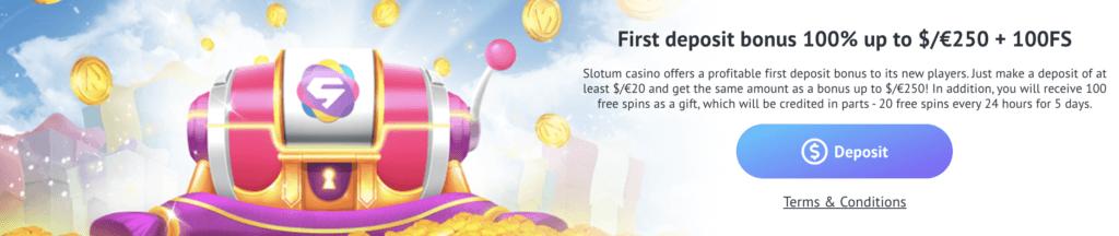 Willkommensbonus normal - Slotum Casino