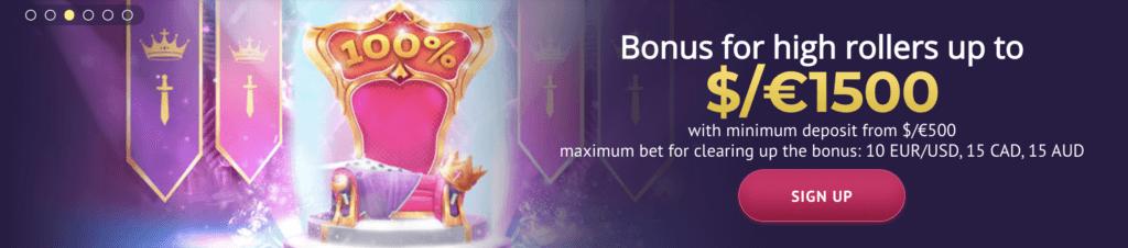 Slotum Casino Aktionen - 50% Reload und bis zu €3000 für Highroller
