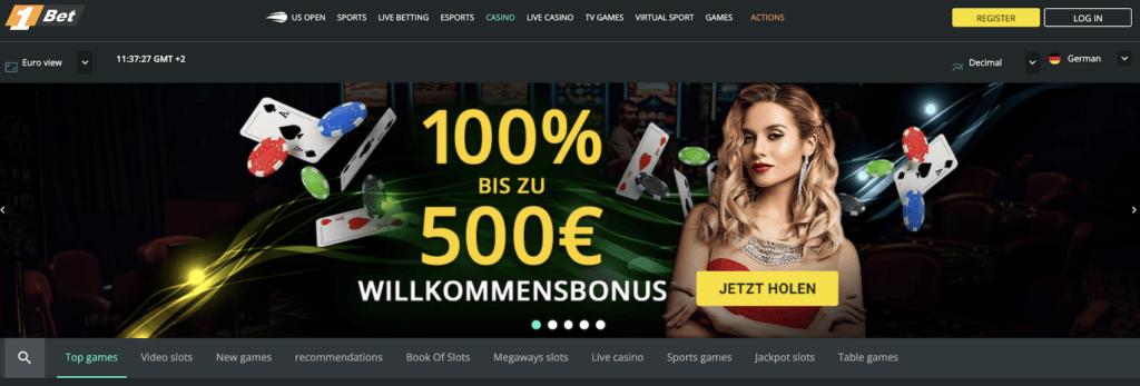 1Bet Casino Bewertung - Wilkommensbonus