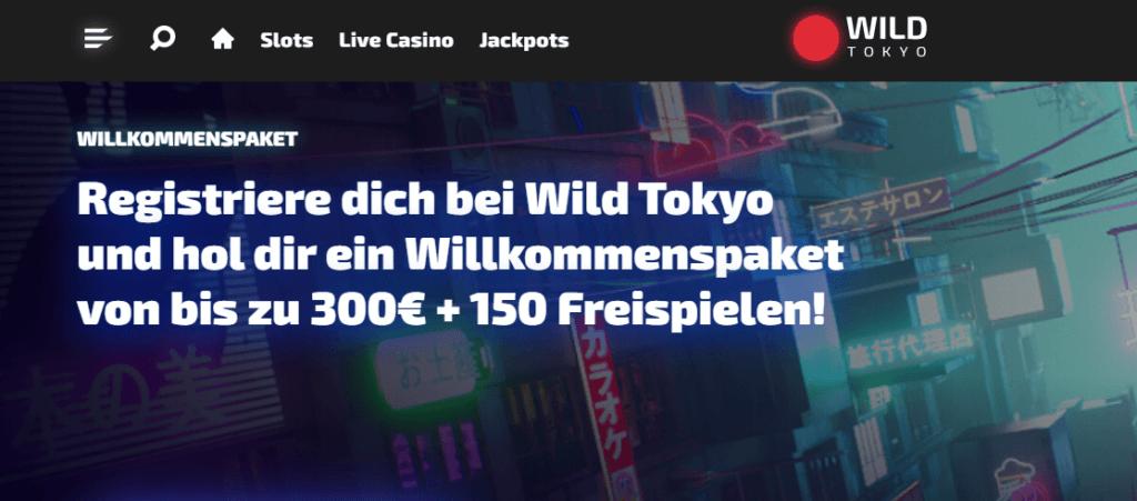 Wild Tokyo - Willkommensbonus