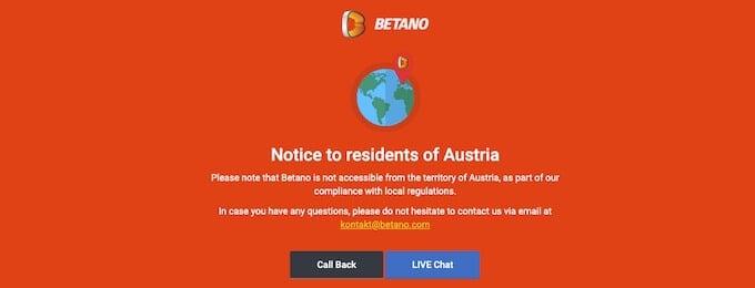 Betano Casino ist zu