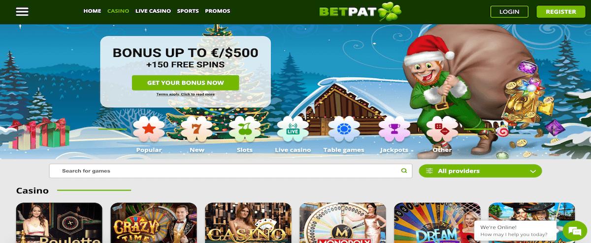 BetPat Homepage & Willkommensbonus