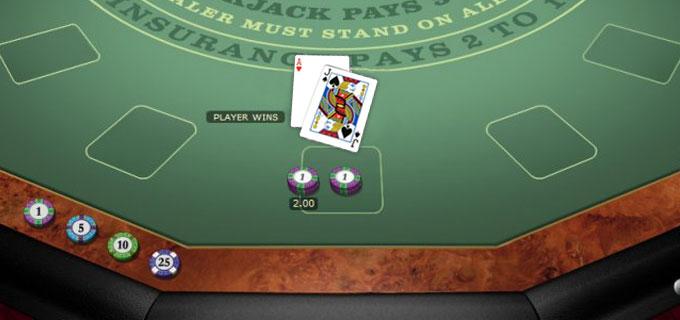 Bild Blackjack Tisch online
