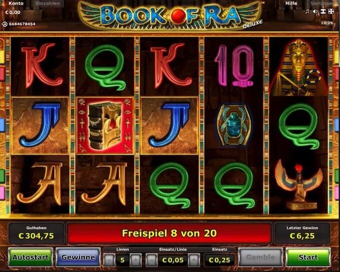 Bild Book of Ra Spielautomat