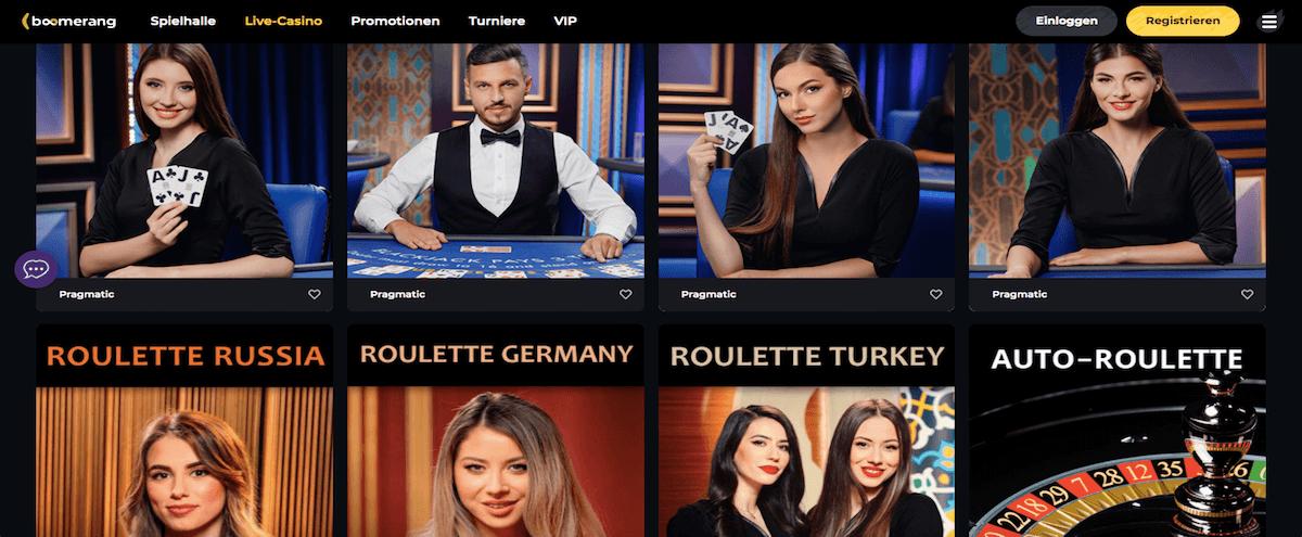 Boomerang Casino Spiele