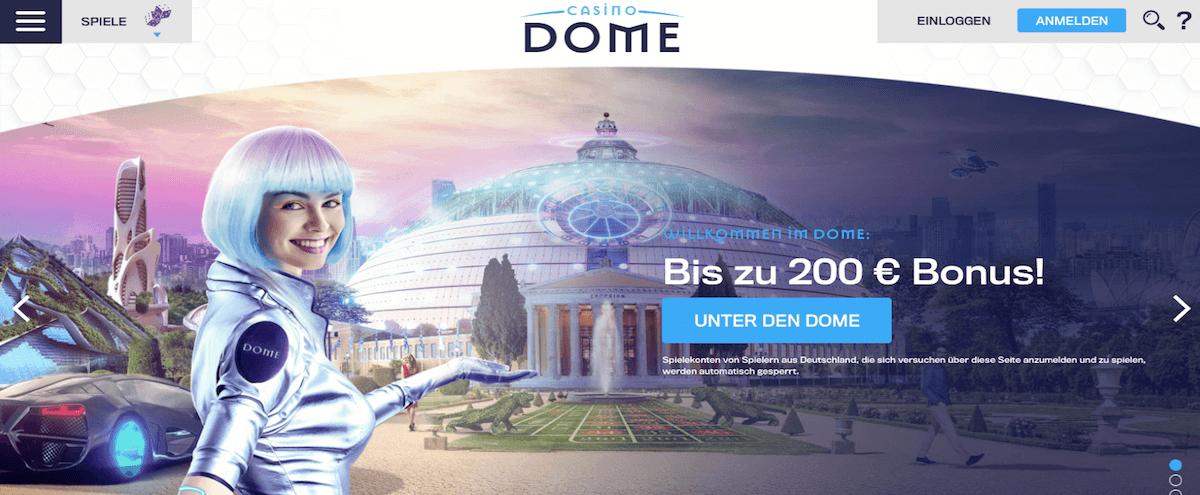 Casino Dome Homepage