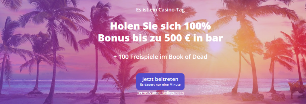 Willkommensbonus bei Casino Days