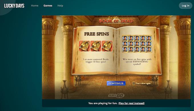 Lucky Days Spiele