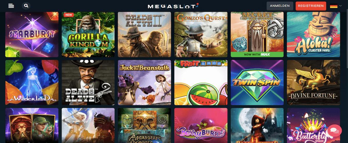 Megaslot Spiele