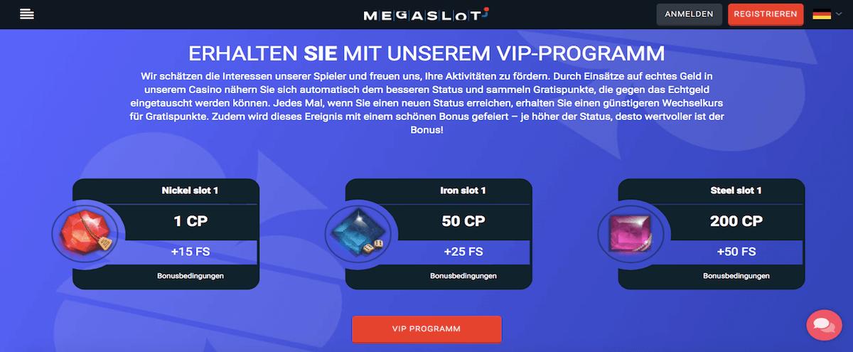 Megaslot VIP-Programm
