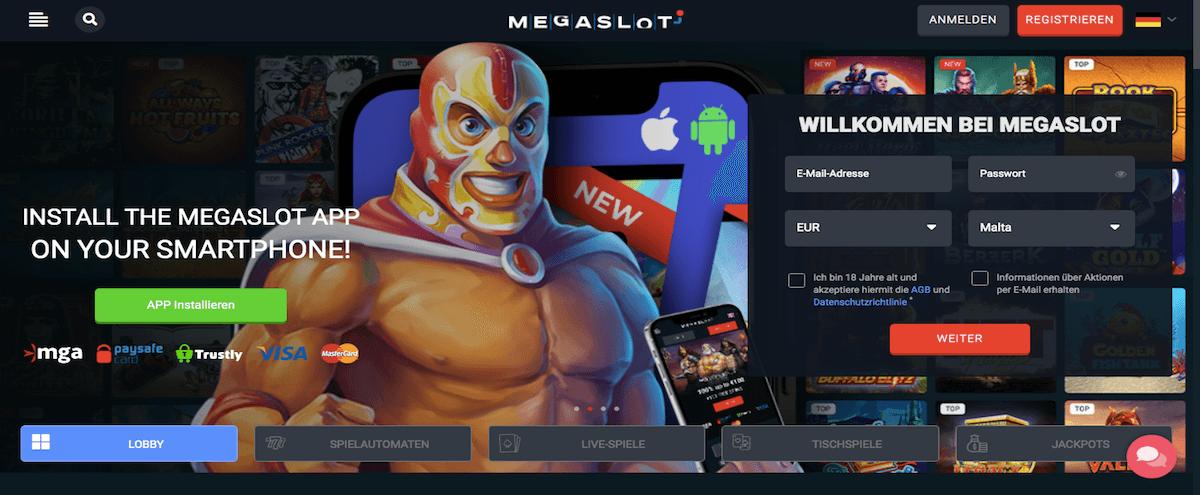 Megaslot Homepage