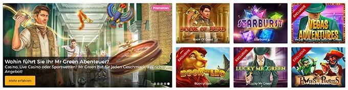 Casino Spiele im Mr Green