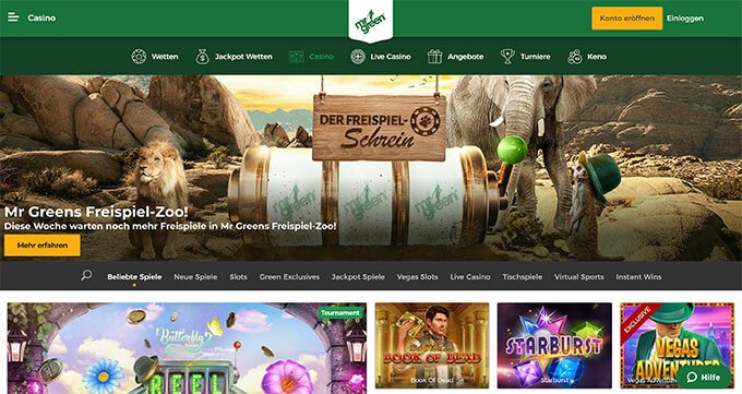 Mr Green Online Casino besuchen
