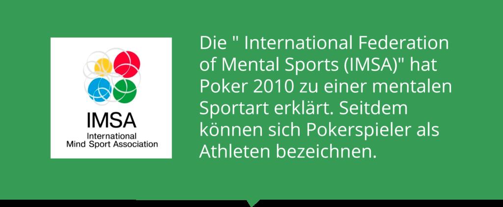 IMSA erklärt Poker zur mentalen Sportart