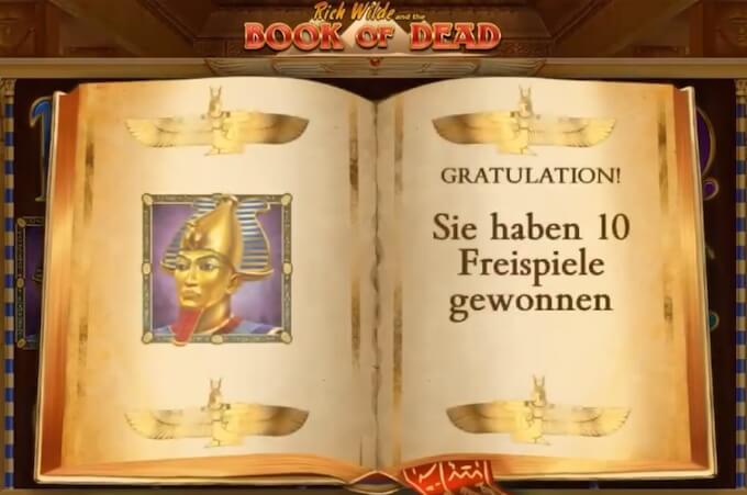 Bild book of dead Freispiele