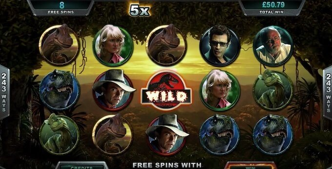 Bild Jurassic Park Slot Spielfläche