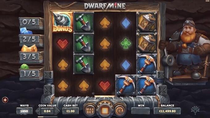 Bild Dwarf Mine Slot Spielautomat