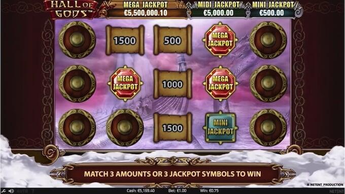 Bild Hall of Gods Jackpot Spiel