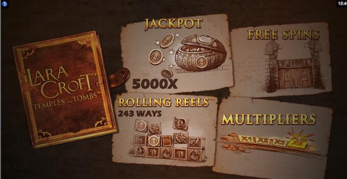 Bild Lara Croft Slot Features