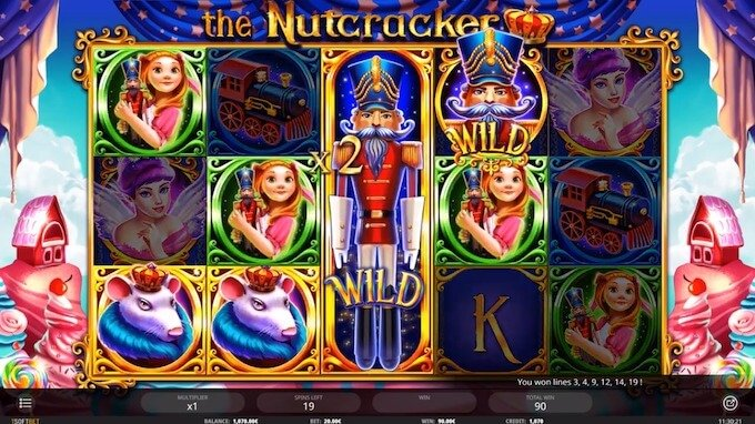 Bild The Nutcracker spielautomat Spielfeld