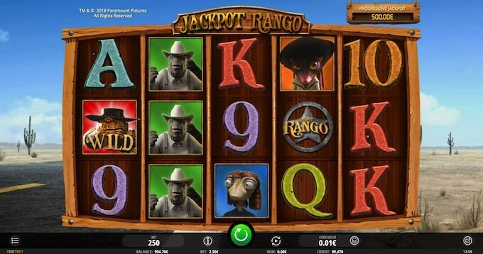 Bild Rango Jackpot Slot Basisspiel