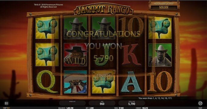 Bild Rango Jackpot Slot Bonus