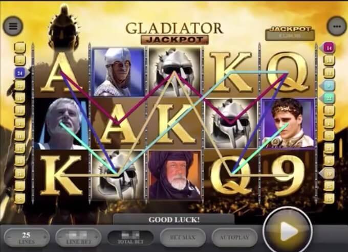 Bild Gladiator Spielautomat Spielfläche