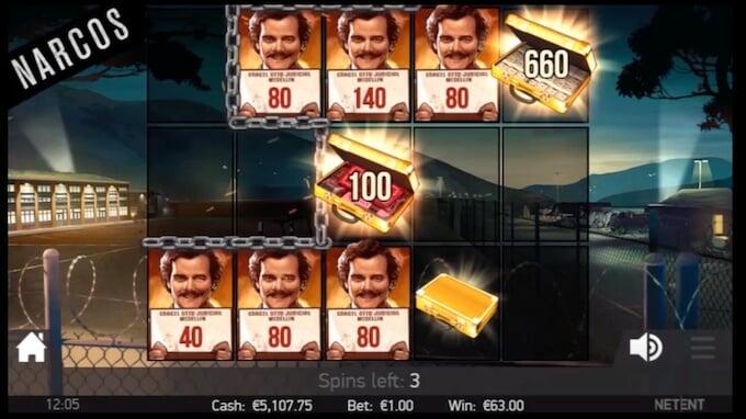 Bild Narcos Slot Freispiel Feature