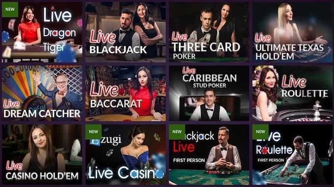 Malina Casino Live Spiele