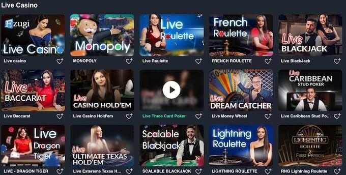 Buran Casino Live Spiele
