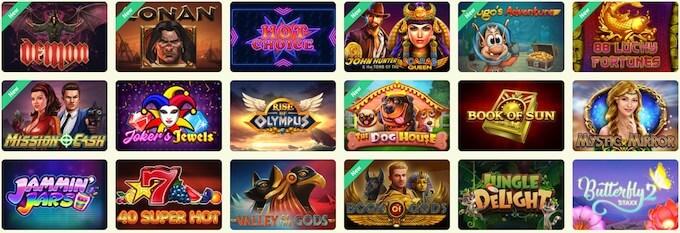 YoYo Casino Spiele Übersicht