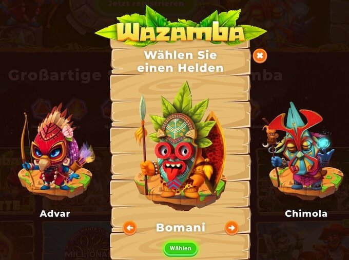 Bild Wazamba Casino Avatare