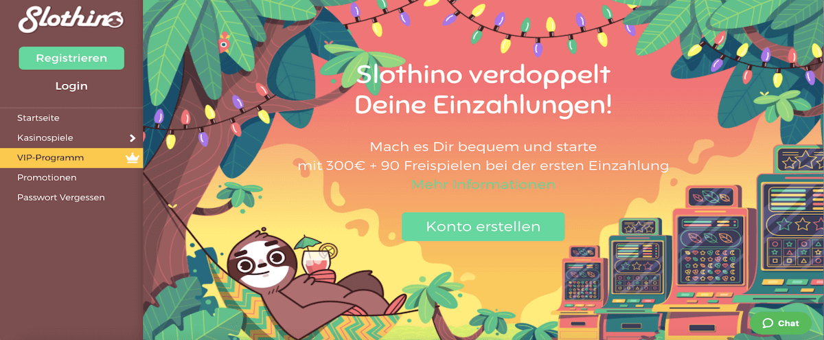 Slothino Homepage
