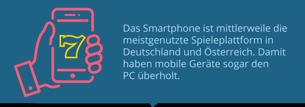 Das Smartphone ist die meistgenutzte Spieleplattform in Deutschland.