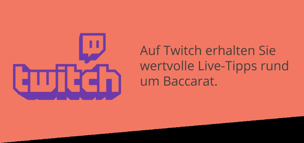 Auf Twitch kann man Baccarat lernen