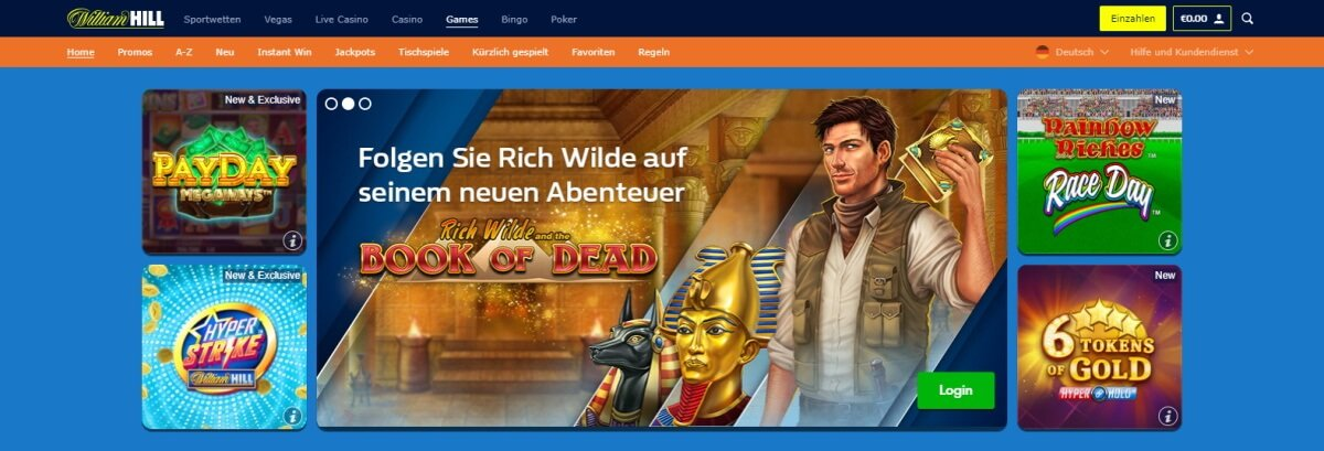 William Hill Games Slots